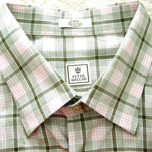 men's Peter Millar shirt size l multi color plaid